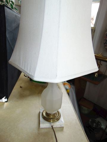 Antique Alabaster Lamp