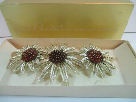 Sarah Coventry Starburst Brooch/Earring Set VTG