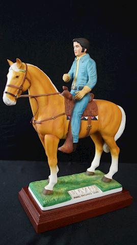 Item #61 Elvis On Rising Sun Horse Decanter