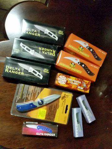 pocket knives lot of 10