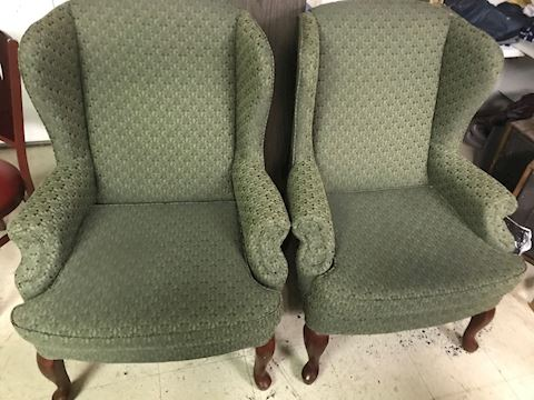 Pair of Green Accent Chairs