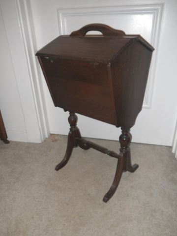 Antique Sewing Basket