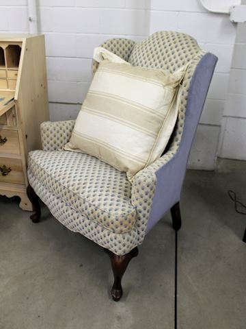 Wellington Wing Back chair, as-is