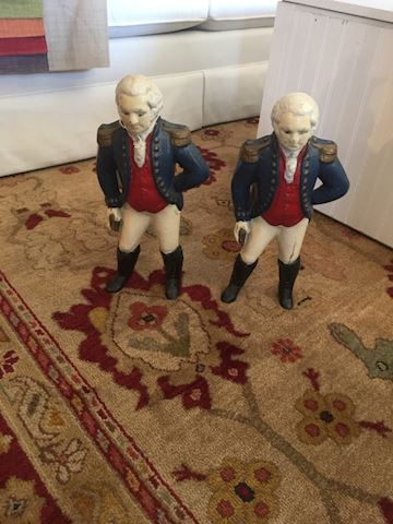 Vintage George Washington Andirons