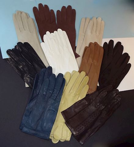 10 pairs of Vintage Kid Leather Ladys Gloves