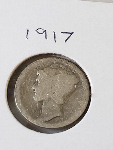 1-1917 Mercury Dime
