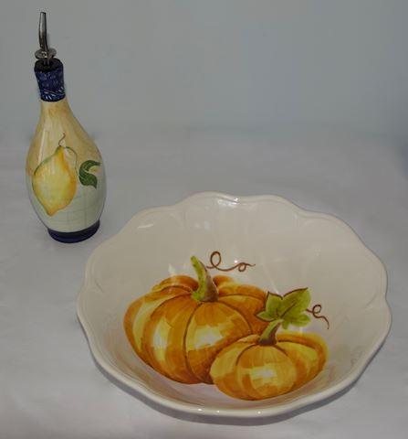 Serving Bowl with Oil Cruet