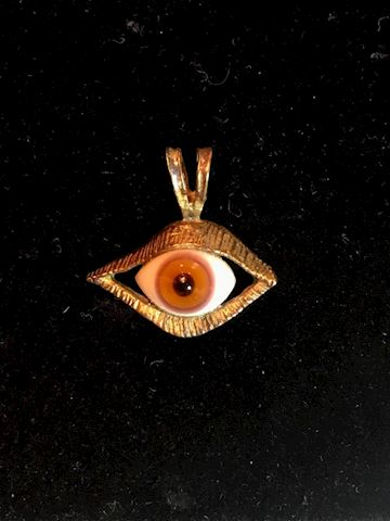 Antique Sterling Silver Lucky Evil Eye All Seeing