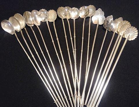 Sterling Silver Spoon Straws