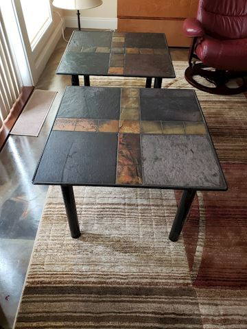 Price Each slate Tile Top Lamp  Table End Table