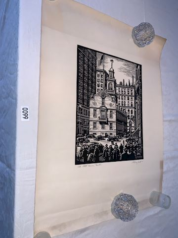 Lot 0099 signd Stanley Scott Old State House print