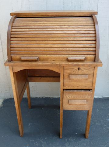 Antique circa 1920 Child's Roll Top Desk