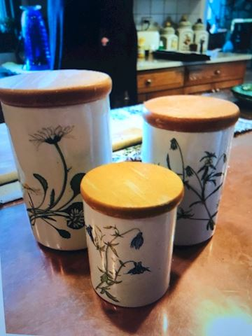three Matching Canisters