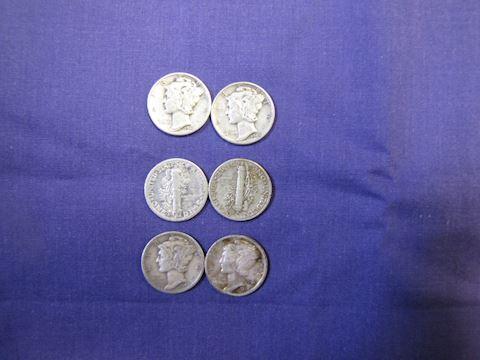 Coins - 6 - Mercury Dimes