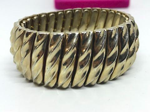 3 gold tone bracelets vintage
