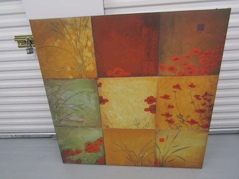 Poppy Picture  47 1/2  x 47 1/2
