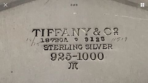 "Tiffany & Co Sterling BOWL 2"" X 9"""