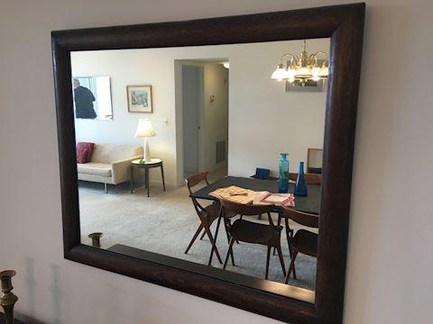 Rustic Dark Wood Mirror