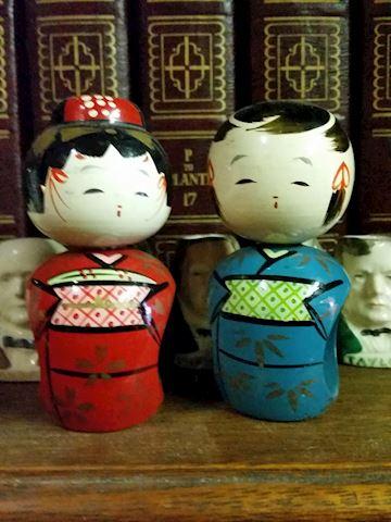 oriental figurine napkin ring holders