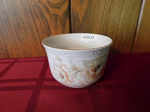 133 Bowl W/ Poppies or Peonies - German
