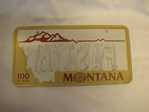 Wrong Way Error Montana License Plate
