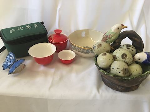 Collections of Porcelain Items Lenox Portable Tea