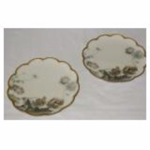 Pair Antique Plates