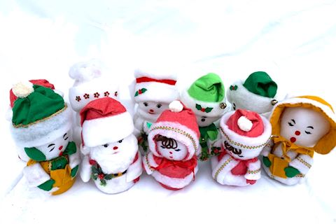 Cotton Holiday Figures Lot 007