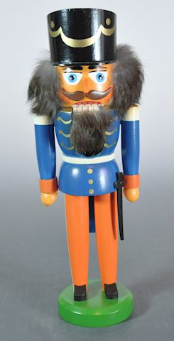 "1980s Erzgebirge East Germany 12"" Blue Soldier Nut"