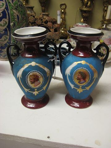 Pair Of 18th Century Porcelain Vases