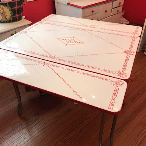 Vintage Enamel table