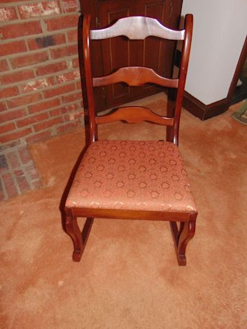 Antique Pecan Petit Rocker
