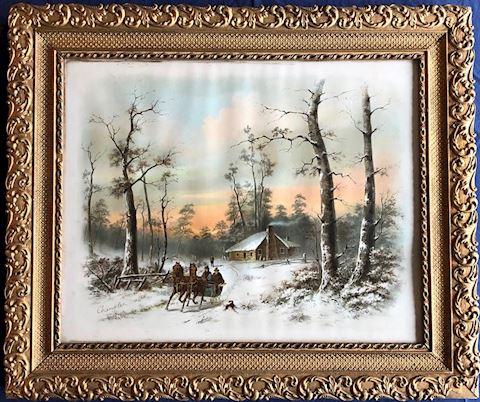 Framed William Henry Chandler  - Winter Sled