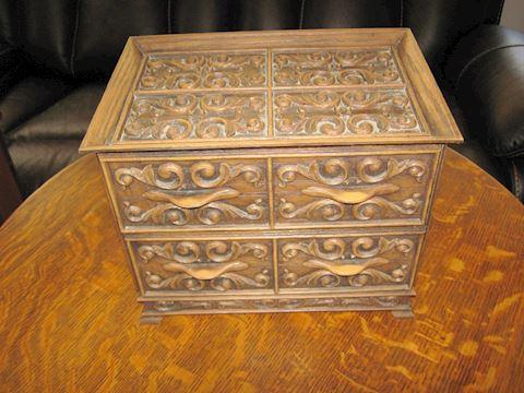 Ornate Vintage Bakelite Storage Box