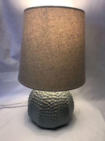 Sea urchin/shell lamp