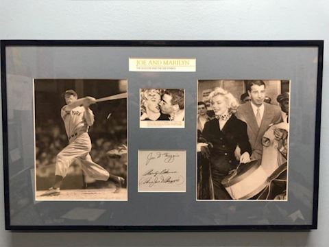 Joe DiMaggio and Marilyn Monroe autographed wall a