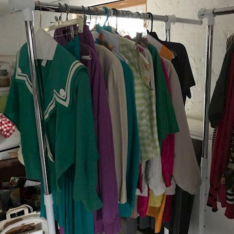 4 racks of vintage clothes