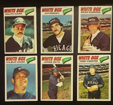 1977 Collection of 6 Chicago White Sox Baseball Ca