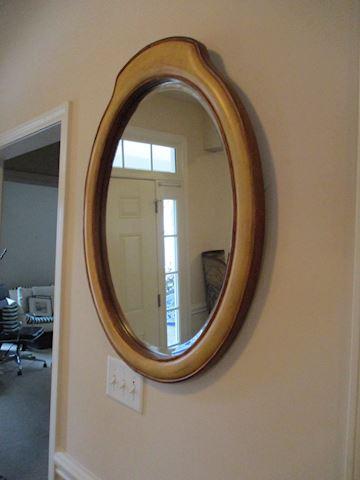 Oak decorative mirror