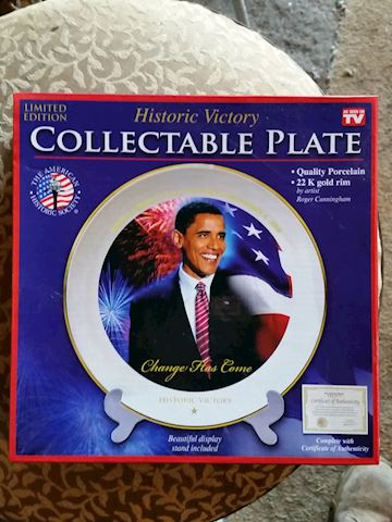 obama Collectable plate