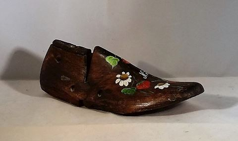 Wooden Shoe- Hand Painted