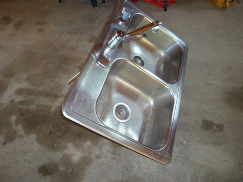 Double Stainles steel sink & Faucet... 60