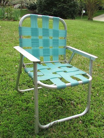 Vintage Child's Aluminum Folding Beach Chair