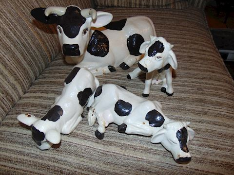 Four Ceramic Cows