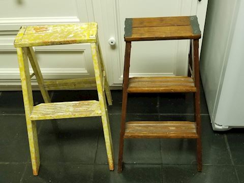 2 Wooden Step Stools