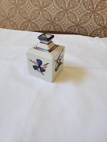 Small square ceramic vase