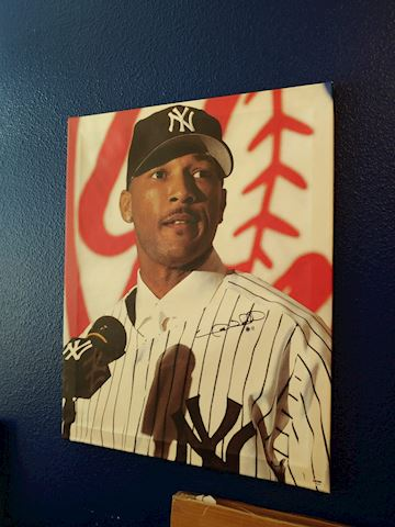 New York Yankees Gary Sheffield autographed canvas