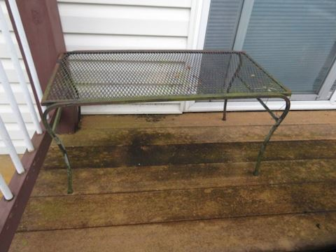 Wrought Iron Accompanying Table