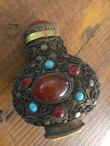Rare Vintage Tibetan Snuff Bottle