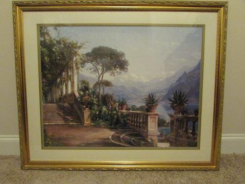 Lodge On Lake Como by Earl Fredric Aagaard